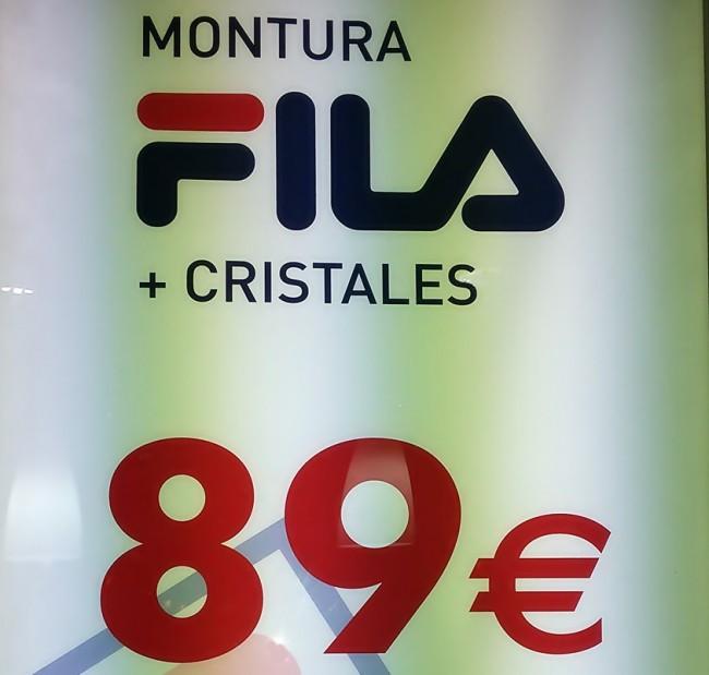 Oferta Montura Fila + Cristales por 89€  + info en: Nova Visión Centro Optico   C/ Juan Llorens, 14 Tfno:963 38 24 23     …