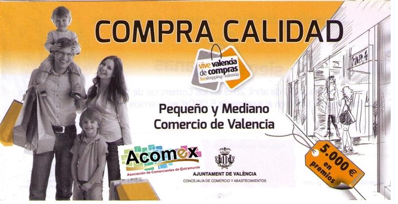 La Asociación de Comerciantes de Extramuros (ACOMEX) en colaboración con la Concejalía de Comercio del Ayuntamiento de Valencia os presenta de nuevo esta campaña de dinamización comercial con estas características: 5.000…