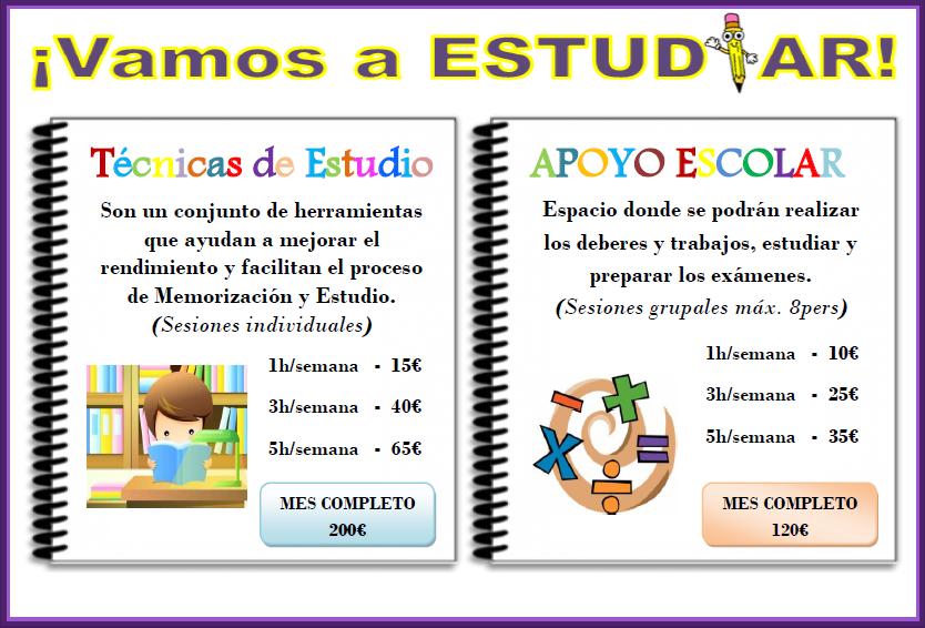 Técnicas de estudio y apoyo escolar.   ELBA PSICOLOGAS C/Literato Gabriel Miró 10, Bajo  46008, Valencia. Tlf:96. 113. 14. 71/640.579.136  www.elbapsicologas.com  …