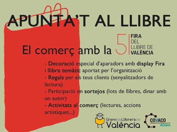 La Asociación de Comerciantes de Extramuros, ACOMEX, en colaboración con el Gremio de Libreros de Valencia y COVACO Valencia os presenta una campaña de dinamización comercial con motivo de la…